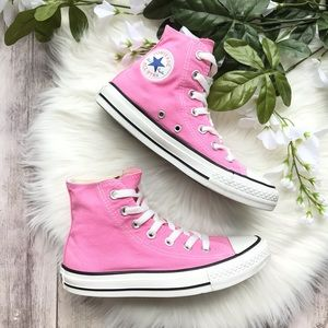 Converse All Star High Top Pink Sneakers SZ 6